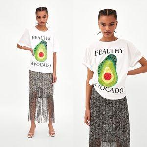 Zara Trafaluc Healthy Avocado T-Shirt